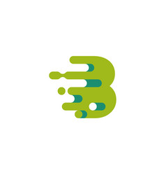 Fast moving b initial logo technology business vector