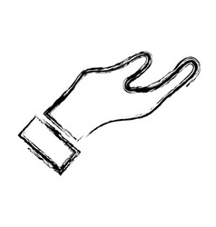 Figure man hand to do signal or communication vector