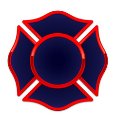 Fire rescue logo base dark blue with red trim vector