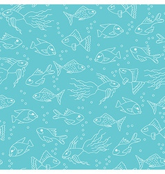 Fish seamless pattern vector
