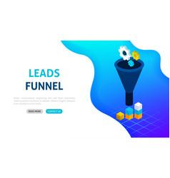 funnel statistics banner concept vector image