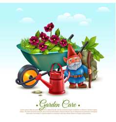 Garden maintenance composition vector