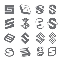 Geometric shapes for S letter logo and monogram vector image vector image