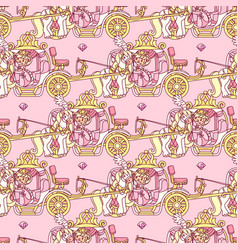 Girlish seamless pattern vector
