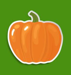 halloween pumpkin sticker vector image