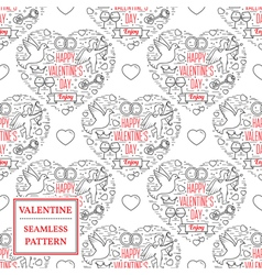 Happy valentines day Valentine seamless pattern T vector image