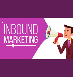 inbound marketing banner business vector image