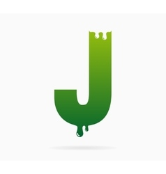 Letter J logo or symbol icon vector image vector image