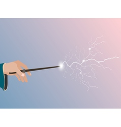Magic wand Magic stick in hand vector image