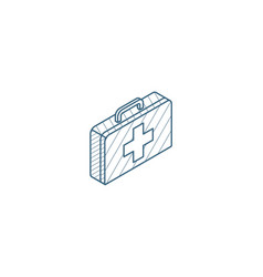 medicine chest isometric icon 3d line art vector image