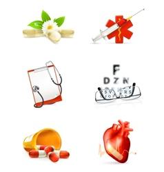 Medicine set icons vector