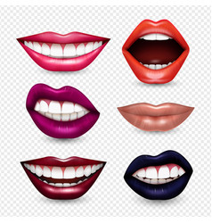 Mouth expressions realistic transparent vector