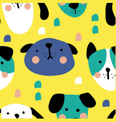 New dogs pattern vector
