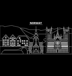 Norway silhouette skyline city norwegian vector