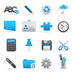 office icons indigo vector image