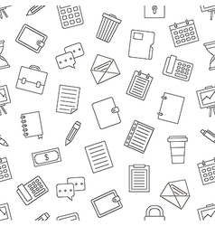 Office work pattern black icons vector image vector image