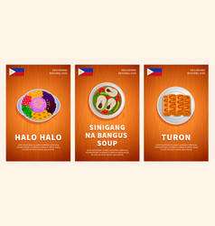 Philippine cuisine traditional food national vector