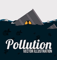 Pollution design over white background vector image