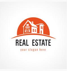 Real estate logo sun vector