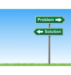 Road sign problems and solutions vector