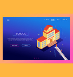 school concept - modern isometric web vector image
