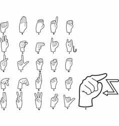 sign language alphabet vector image
