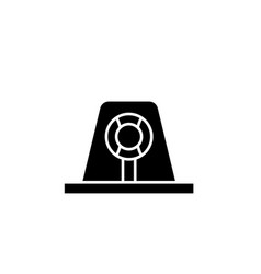 signal light black icon sign on isolated vector image