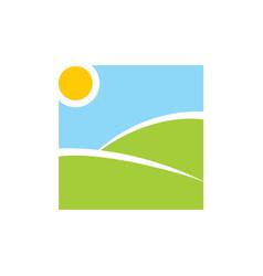 simple landscape view logo vector image