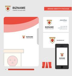 skull flag business logo file cover visiting card vector image