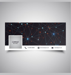 Social media timeline cover design with low poly vector