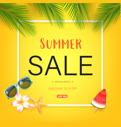 Summer sale text vector