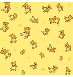 Teddy bears background vector