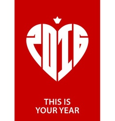 This is Your Year poster with new year date and vector image