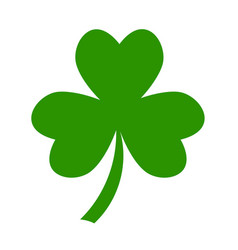Three leaf green clover hand draw lucky vector