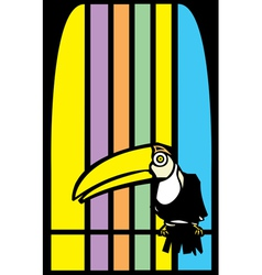 Toucans and Stripes vector image vector image