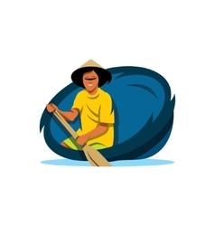 Traditional Vietnamese boat Cartoon vector