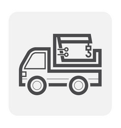 truck icon black vector image