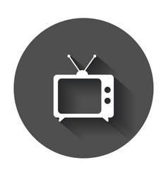 Tv icon in flat style television symbol for web vector