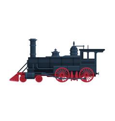vintage locomotive old train railroad vector image