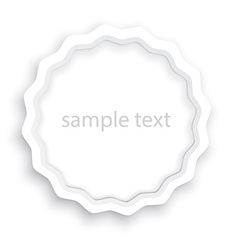 volume paper blank label with a shadow that can be vector image