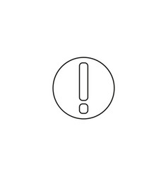warning icon attention exclamation mark symbol vector image