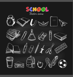 welcome back to school collection vector image