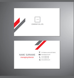 white and red business cards set technology vector image