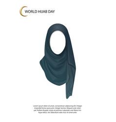 world hijab day poster vector image