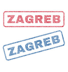Zagreb textile stamps vector