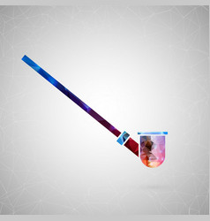 abstract creative concept icon of hookah vector image