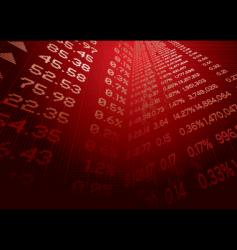 financial forecast vector image vector image