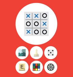 flat icon entertainment set of arrow jigsaw vector image vector image