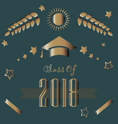 graduation class of year 2018 vector image vector image