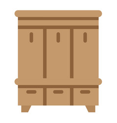 hallway closet flat icon furniture and interior vector image